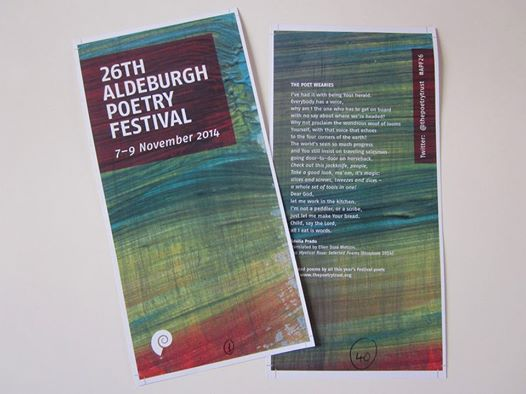 26th Aldeburgh Poetry Festival